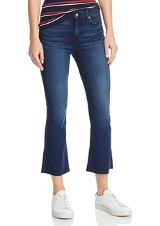 7 For All Mankind Cropped Bootcut Jeans in B(Air) Varnish