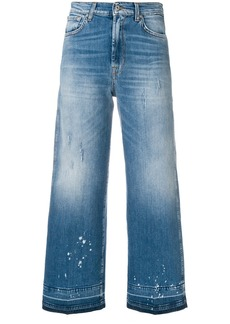 7 For All Mankind cropped faded jeans - Blue