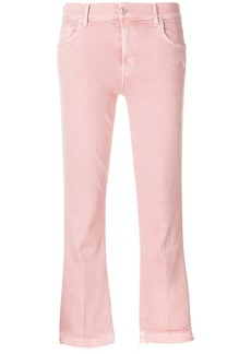 7 For All Mankind cropped flared jeans - Pink & Purple