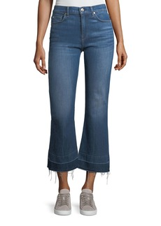 7 For All Mankind Cropped Flared Jeans w/ Released Hem