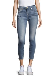 7 For All Mankind Cropped-Leg Denim Pants