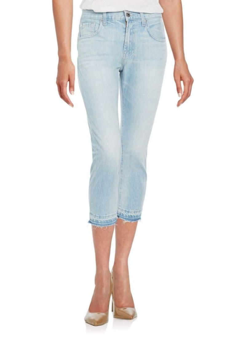 7 For All Mankind Cropped Relaxed Skinny Jeans