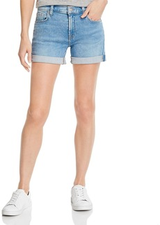 7 For All Mankind Cuffed Denim Shorts in Melrose