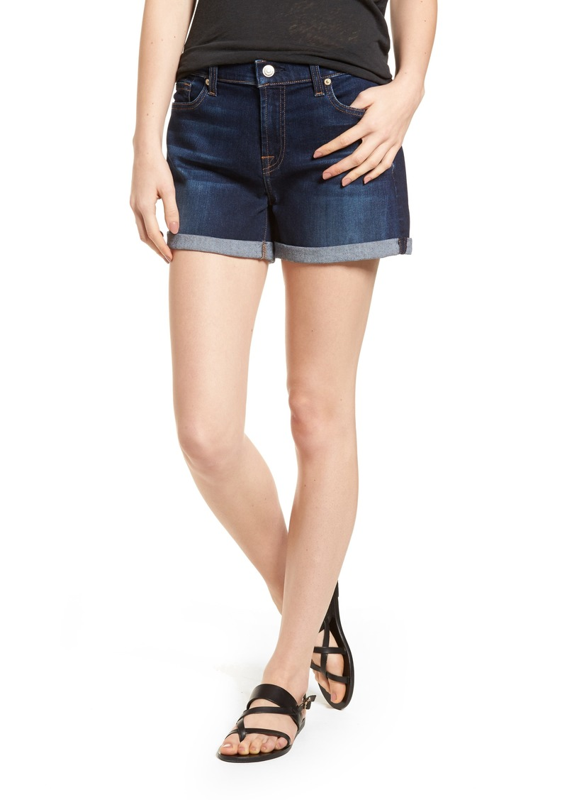 7 For All Mankind® b(air) Cuffed Denim Shorts