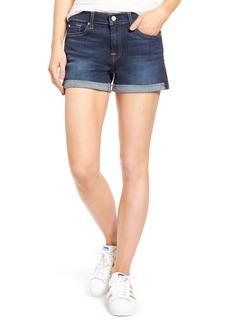 7 For All Mankind® Cuffed Denim Shorts (Santiago Canyon)