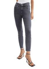 7 For All Mankind Cummerbund High Waist Skinny Jeans in Trixie Blk