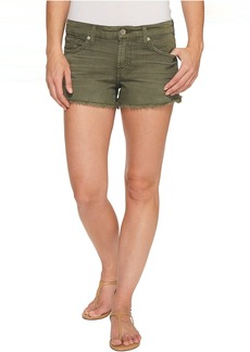 7 For All Mankind Cut Off Shorts in Olive