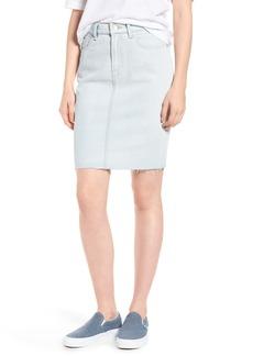 7 For All Mankind® Cutoff Denim Pencil Skirt