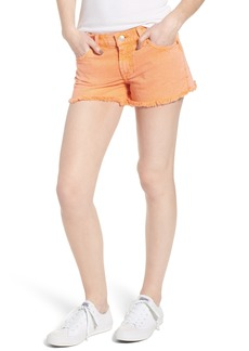 7 For All Mankind® Cutoff Denim Shorts (Clean White)