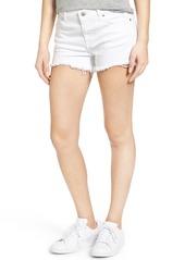 7 For All Mankind® Cutoff Denim Shorts (Clean White)