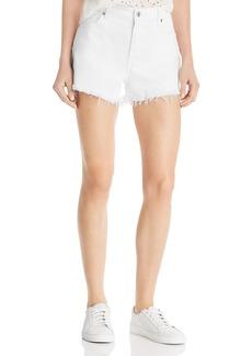 7 For All Mankind Cutoff Denim Shorts in Clean White