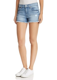 7 For All Mankind Cutoff Denim Shorts in Paradise Sky - 100% Exclusive