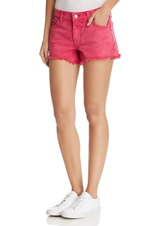 7 For All Mankind Cutoff Denim Shorts in Raspberry Sorbet