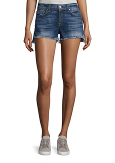 7 For All Mankind Cutoff Denim Shorts w/Step Hem