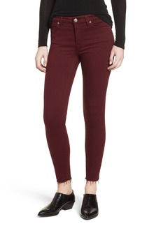 7 For All Mankind® Cutoff Hem Ankle Skinny Jeans (Merlot)