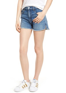7 For All Mankind® Cutoff Step Hem Denim Shorts (Desert Oasis)