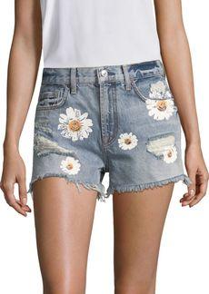 7 For All Mankind Cutoff Distressed Denim Shorts