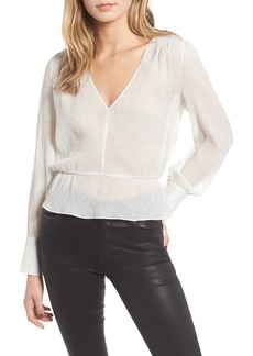 7 For All Mankind® Deep V-Neck Peplum Top