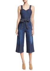 7 For All Mankind Denim Culotte Jumpsuit