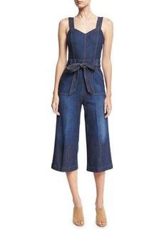 7 For All Mankind Denim Culotte Jumpsuit