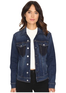 7 For All Mankind Denim Jacket w/ Shadow Pockets in Medium Shadow Blue