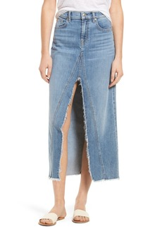 7 For All Mankind® Denim Midi Skirt (Gold Coast Waves 3)