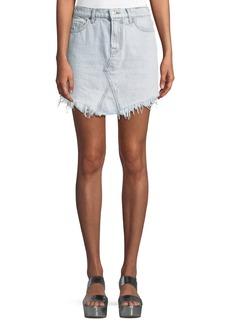 7 For All Mankind Denim Skirt w/ Scallop Hem