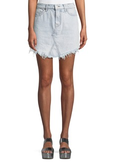 7 For All Mankind Denim Skirt w/ Scallop Hem