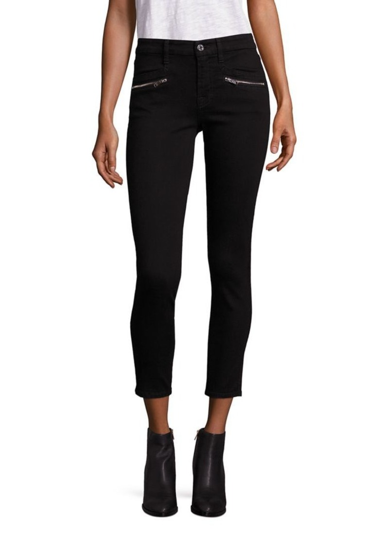 7 For All Mankind Denim Zip Detail Ankle Skinny Jeans