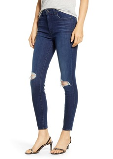 7 For All Mankind Destroyed Knee Ankle Skinny Jeans (B Air Authentic Mist)