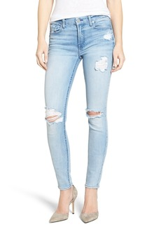 7 For All Mankind® Ripped Skinny Jeans (Bright Bristol)