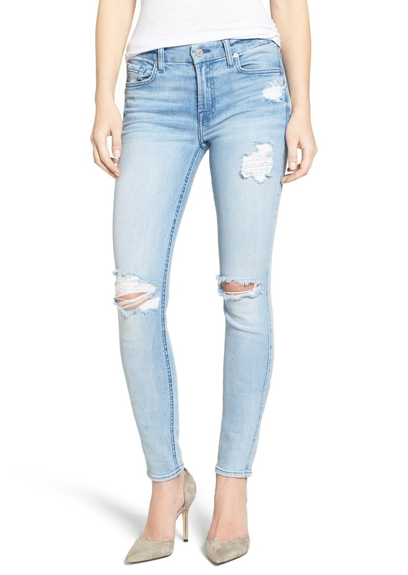 7 for all mankind ripped jeans jeans to. Black Bedroom Furniture Sets. Home Design Ideas