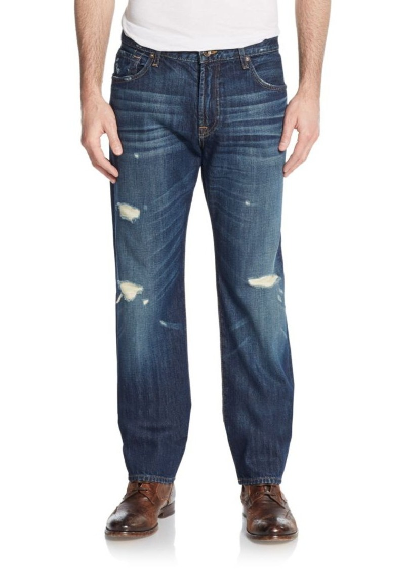 7 for all mankind 7 for all mankind distressed tapered straight leg jeans jeans shop it to me. Black Bedroom Furniture Sets. Home Design Ideas