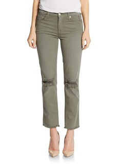 7 For All Mankind Distressed Cropped Pants