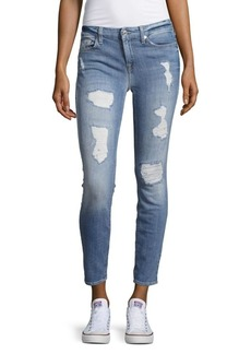7 For All Mankind Distressed Faded Jeans