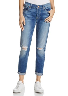 7 For All Mankind Distressed Josefina Boyfriend Jeans in Bella Heritage