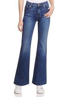 7 For All Mankind Dojo Flare Jeans in Medium Melrose