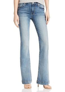 7 For All Mankind Dojo Flared Jeans in Medium Blue