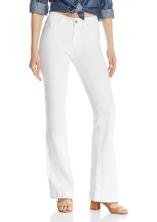 7 For All Mankind Dojo Wide Leg Jeans in White Runway Denim