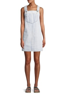7 For All Mankind Dungaree Denim Mini Dress