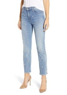 7 For All Mankind® Edie Faux Pearl Detail Ankle Jeans (Luxe Vintage Flora)