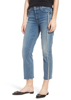 7 For All Mankind® Edie Fray Seams Crop Straight Leg Jeans (Canyon Ranch)
