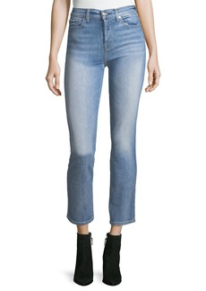 7 For All Mankind Edie High-Rise Ankle Straight-Leg Jeans