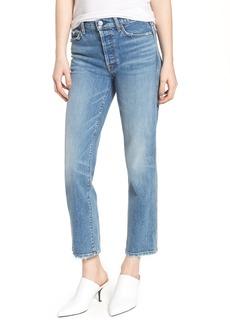 7 For All Mankind® Edie High Waist Crop Straight Leg Jeans (Desert Oasis 7)