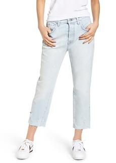 7 For All Mankind® Edie High Waist Crop Straight Leg Jeans (Desert Sun Bleached 3)