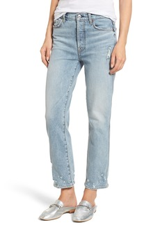 7 For All Mankind® Edie High Waist Crop Straight Leg Jeans (Mineral Desert Springs 2)