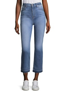 7 For All Mankind Edie Kick Flare Shadow Hem Jeans