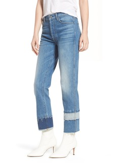 7 For All Mankind® Edie Pieced Hem Cropped Jeans (Vintage Blue Dunes)