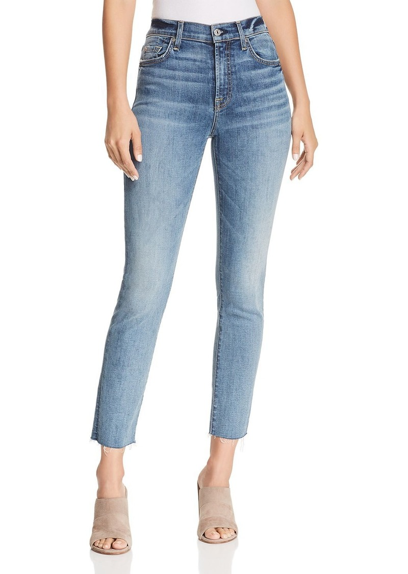 7 For All Mankind Edie Skinny Jeans in B(air) Authentic Fortune