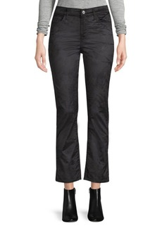 Edie Velvet Cropped Flare Jeans